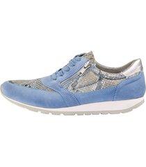 skor med snörning och dragkedjor mona ljusblå
