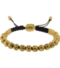 brass distressed bead bracelet