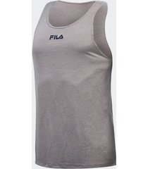 camiseta regata fila basic train melang cinza masculina