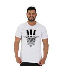 camiseta tradicional manga curta mxd conceito caveira de cartola