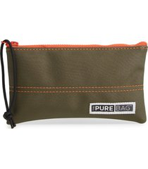 thepurebag antimicrobial wristlet pouch in dark green tea at nordstrom