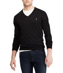 chaleco slim fit cotton v-neck negro polo ralph lauren