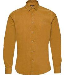 cedrik button under shirt skjorta casual gul morris
