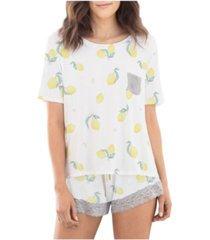 honeydew printed lounge pajama set
