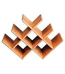 rack de mesa para vinho em bambu 8 lugares 8444 mor
