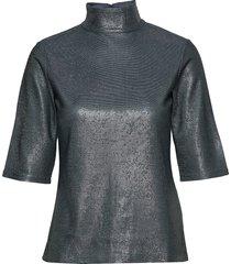 amber lurex tee blouses short-sleeved grijs filippa k