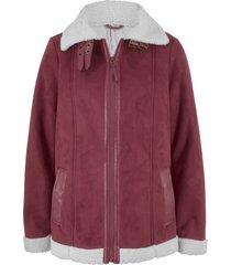 giacca in finto agnello (rosso) - bpc bonprix collection