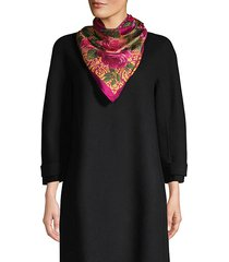 floral silk square scarf