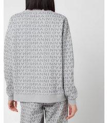 ganni women's jacquard isoli sweatshirt - grey - l/xl