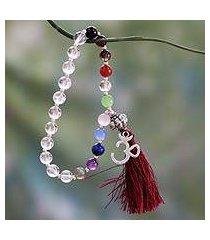 multi-gemstone chakra bracelet, 'harmony' (india)