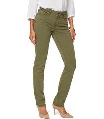 women's nydj sheri slim jeans, size 16 - green