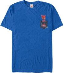 fifth sun marvel men's spiderverse spider-ham pocket short sleeve t-shirt