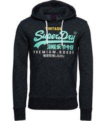 superdry men's vintage-like logo tri hoodie