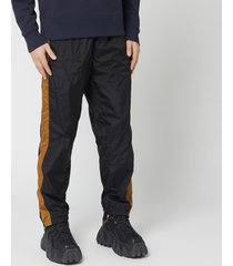 acne studios men's striped track pants - black - m