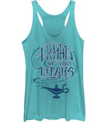 disney juniors' aladdin women of many dreams tri-blend tank top