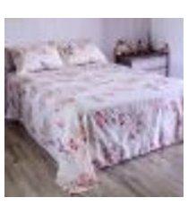 jogo de cama duplo queen percal 180 fios 100% algodão santorini