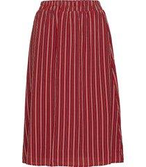 liss skirt knälång kjol röd kaffe