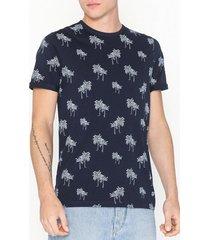 premium by jack & jones jprslam bla. tee ss crewneck t-shirts & linnen mörk blå