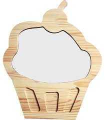 drewniana tablica suchościeralna magnes cupcake