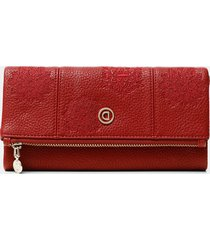 rectangular flap coin purse - red - u
