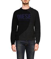 diesel sweater diesel crew neck pullover with maxi logo