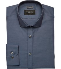 awearness kenneth cole navy extreme slim fit dress shirt