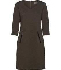 frlepan 1 dress knälång klänning grön fransa