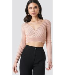 trendyol double breasted knitted sweater - pink