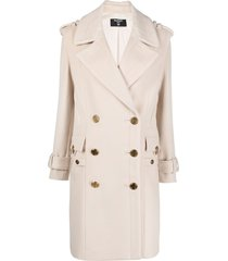 balmain wool-cashmere blend coat - neutrals