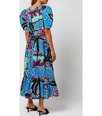 rhode women's nisha dress - purple psychedelic flower - xs