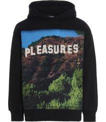 pleasures pleasurewood studded sweatshirt