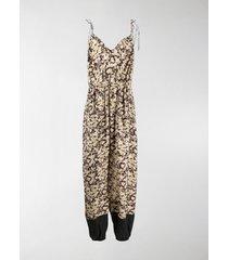 stella mccartney floral print jumpsuit
