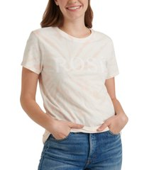 lucky brand rose tie-dye graphic t-shirt