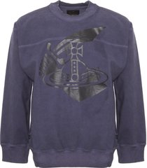 vivienne westwood anglomania navy arm and cutlass printed square sweatshirt 66078532