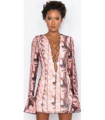akira all on me long sleeve mesh mini dress