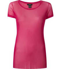 avant toi round-neck tulle t-shirt - pink