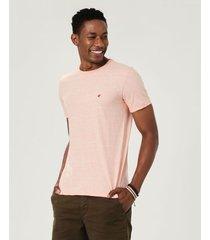 camiseta tradicional em malha sustentável malwee rosa claro - p