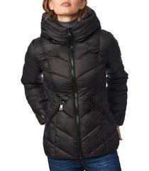 bernardo water resistant hooded puffer coat, size medium in black at nordstrom