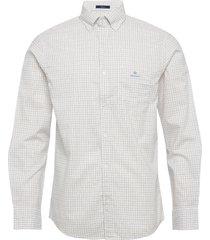 d1. herringb tattersall reg bd overhemd casual wit gant