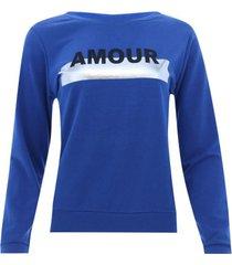 buzo amour color azul oscuro,talla 6