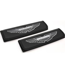 aston martin seat belt covers shoulder pad with emblem interior accessories