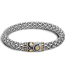 john hardy legends naga 7mm station bracelet, size medium in silver/gold at nordstrom