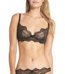 dita von teese metallic lace underwire bra, size 38dd in black at nordstrom