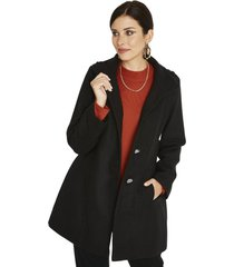 abrigo manga larga liso negro lorenzo di pontti