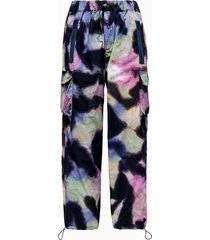 lc23 pantalone in poliestere tie dye
