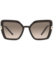 prada prada pr 09ws crystal dark brown sunglasses
