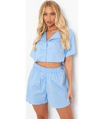 oversized korte blouse en shorts, blue