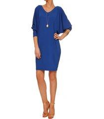sukienka niebieska nietoperz