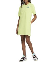 women's nike jordan essential t-shirt dress, size medium - green