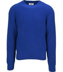 ami alexandre mattiussi ami ribbed knit jumper